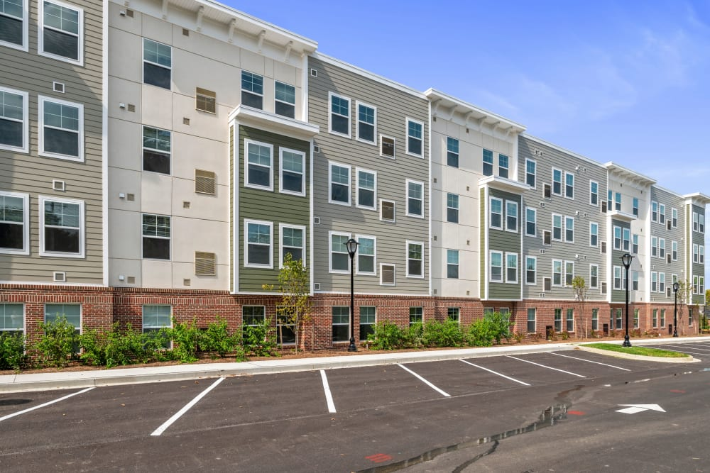 Street view of The Apartments at Sharpe Square in Frederick, Maryland