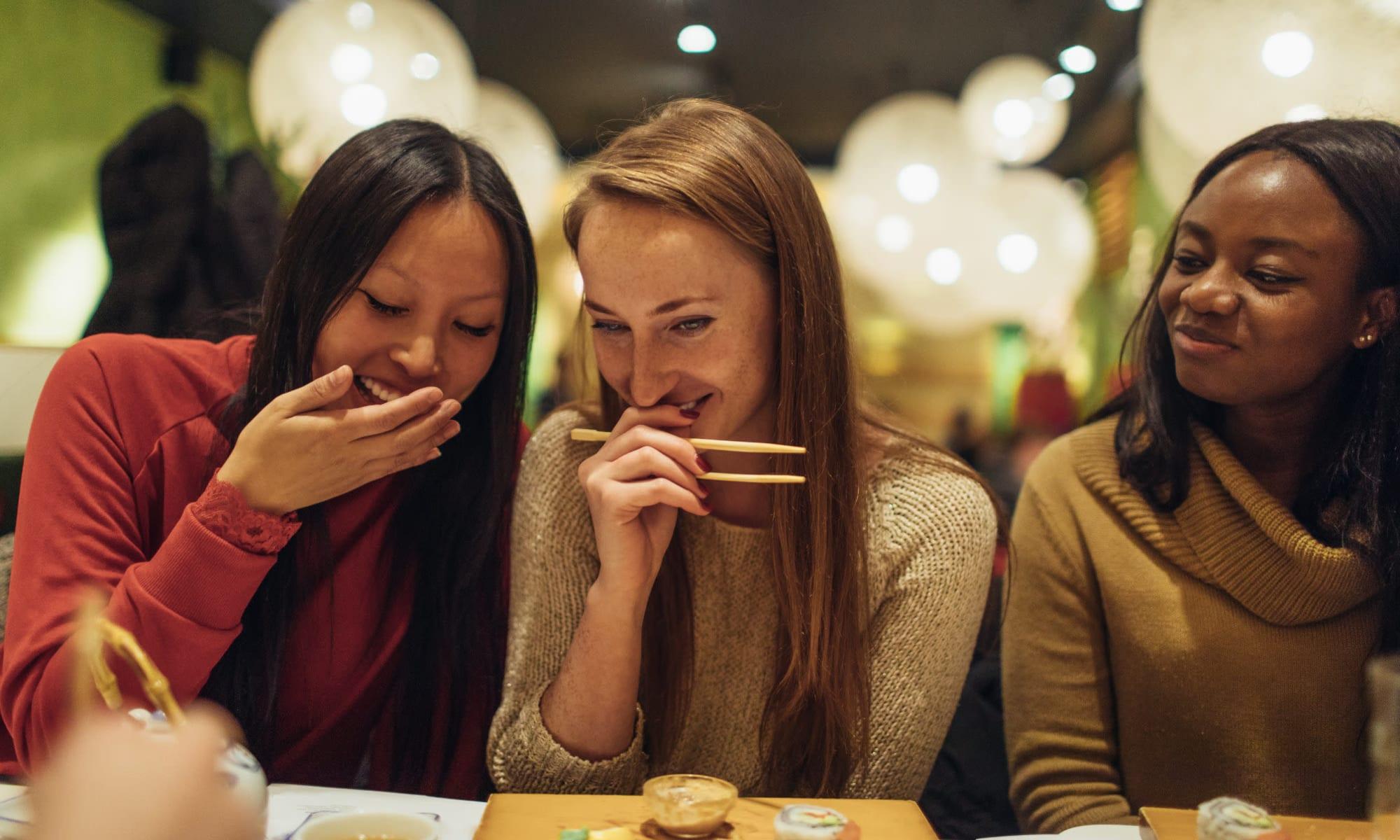 Residents enjoying the restaurants near The Loop on Greenfield in Oak Park, Michigan