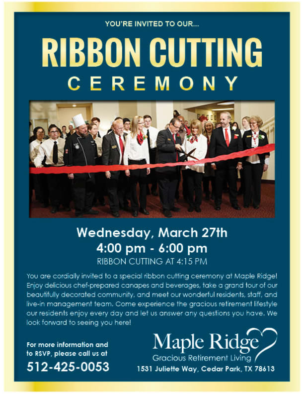Open event at Maple Ridge Gracious Retirement Living.