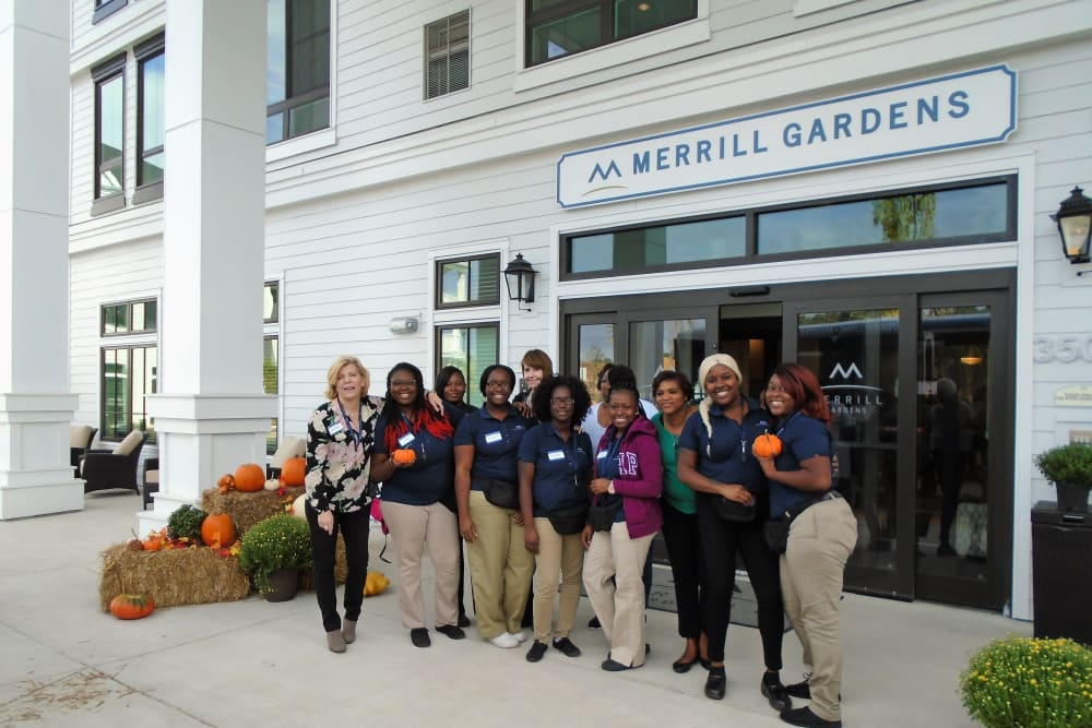 The team at Merrill Gardens at Carolina Park in Mount Pleasant, South Carolina.