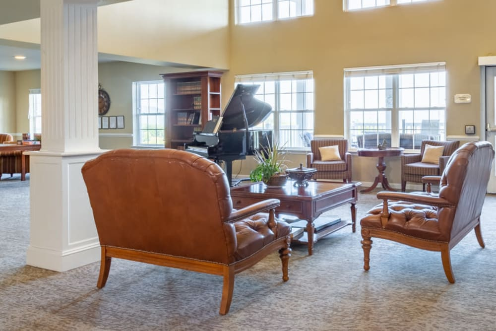 Lobby at The Harmony Collection at Roanoke - Independent Living in Roanoke, Virginia