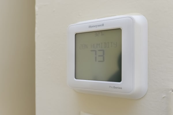 Thermostat at Hill Brook Place Apartments in Bensalem, Pennsylvania