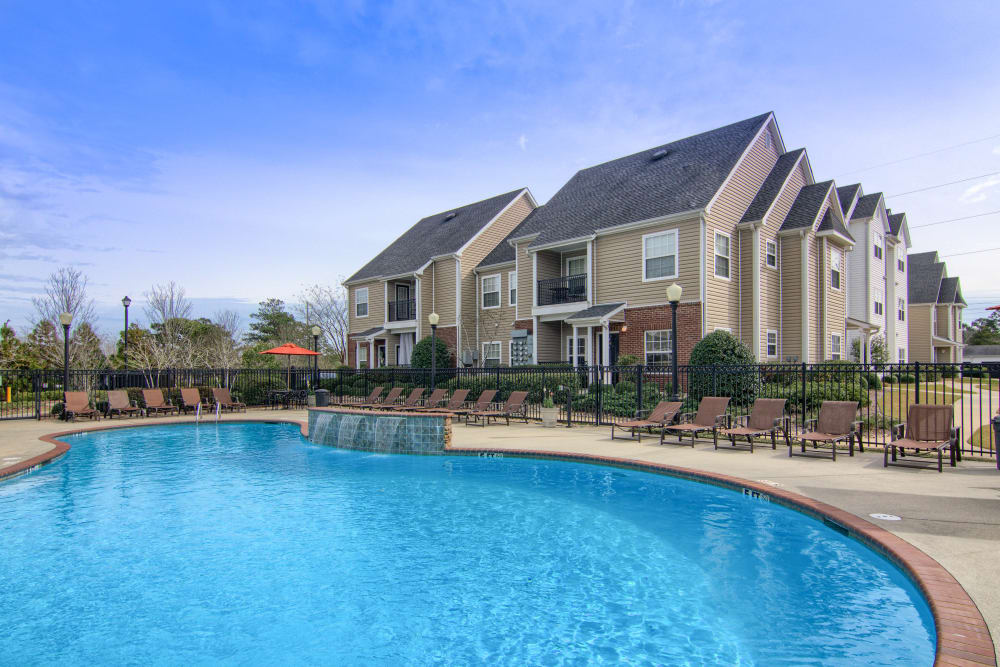 Luxury pool at Reserve at Long Point in Hattiesburg, Mississippi