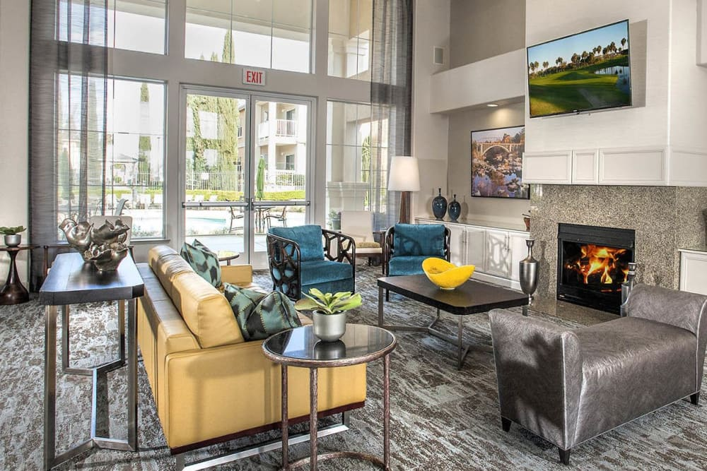 Modern clubhouse interior at  Iron Point at Prairie Oaks in Folsom, California