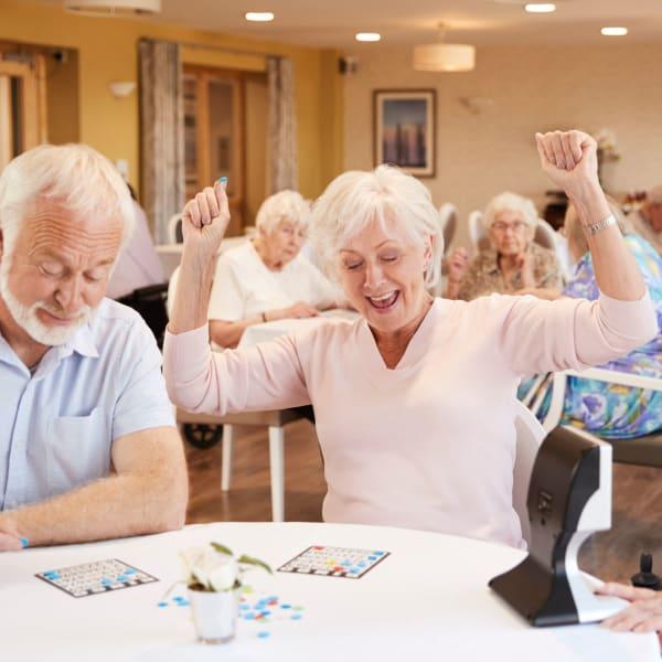 Residents playing bingo at Monte Vista Village in Lemon Grove, California