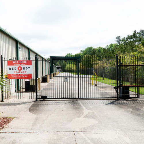 Electronic gate access at Red Dot Storage in Hammond, Louisiana