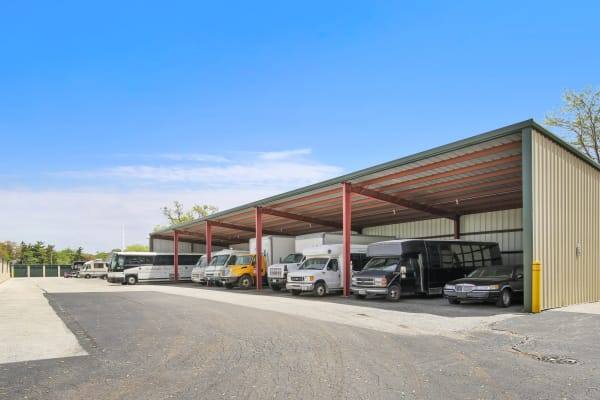 Outdoor parking for Rv, Boat, & Automobile Storage at Global Self Storage locations
