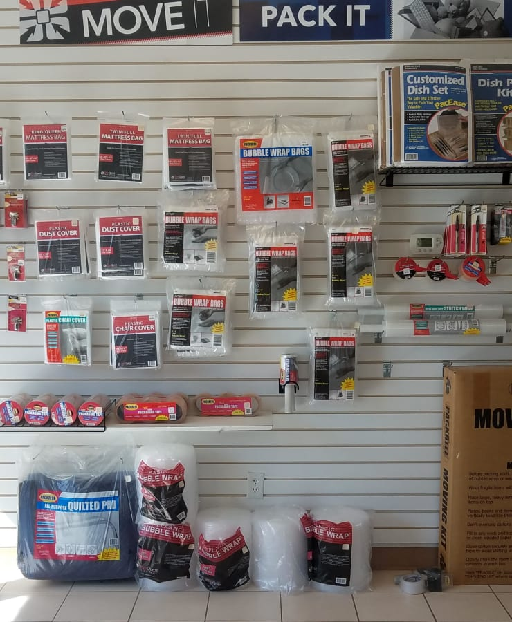Packing supplies available at StorQuest Self Storage in Parker, Colorado