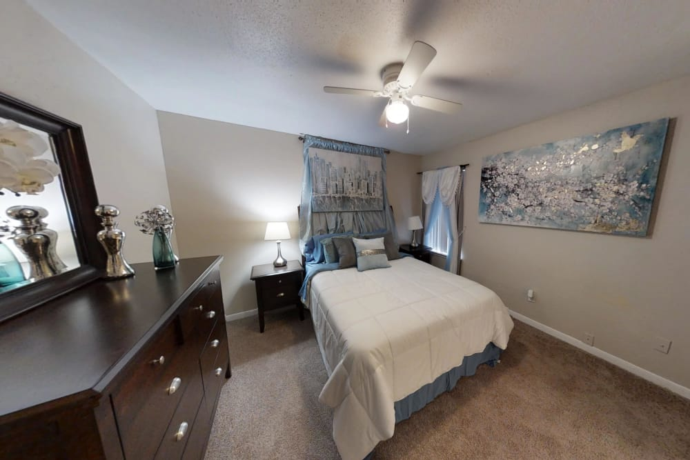 Bedroom interior hall at Green Meadows Apartments
