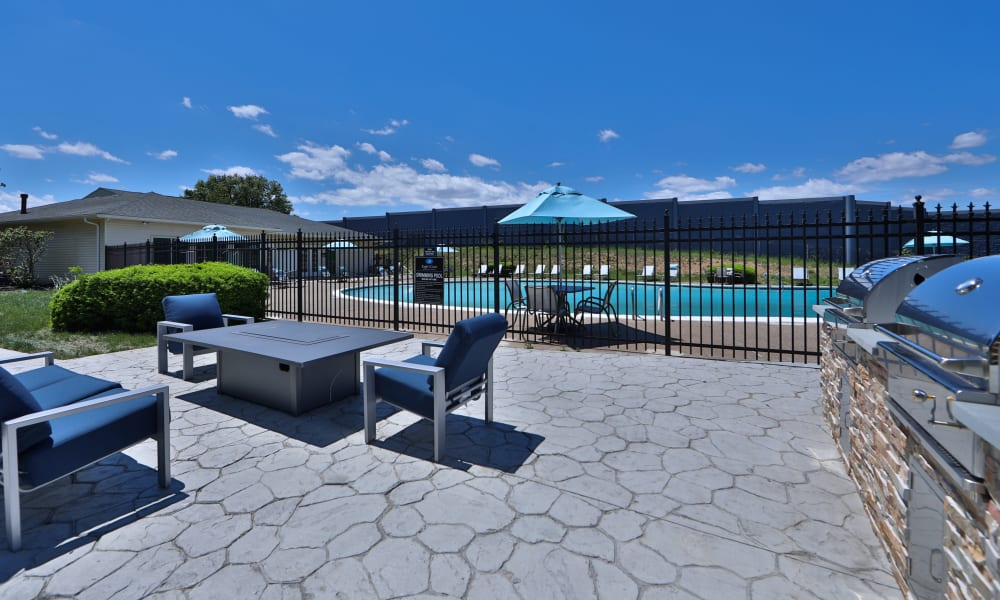 Patio Space to Eagle's Crest Apartments in Harrisburg, Pennsylvania