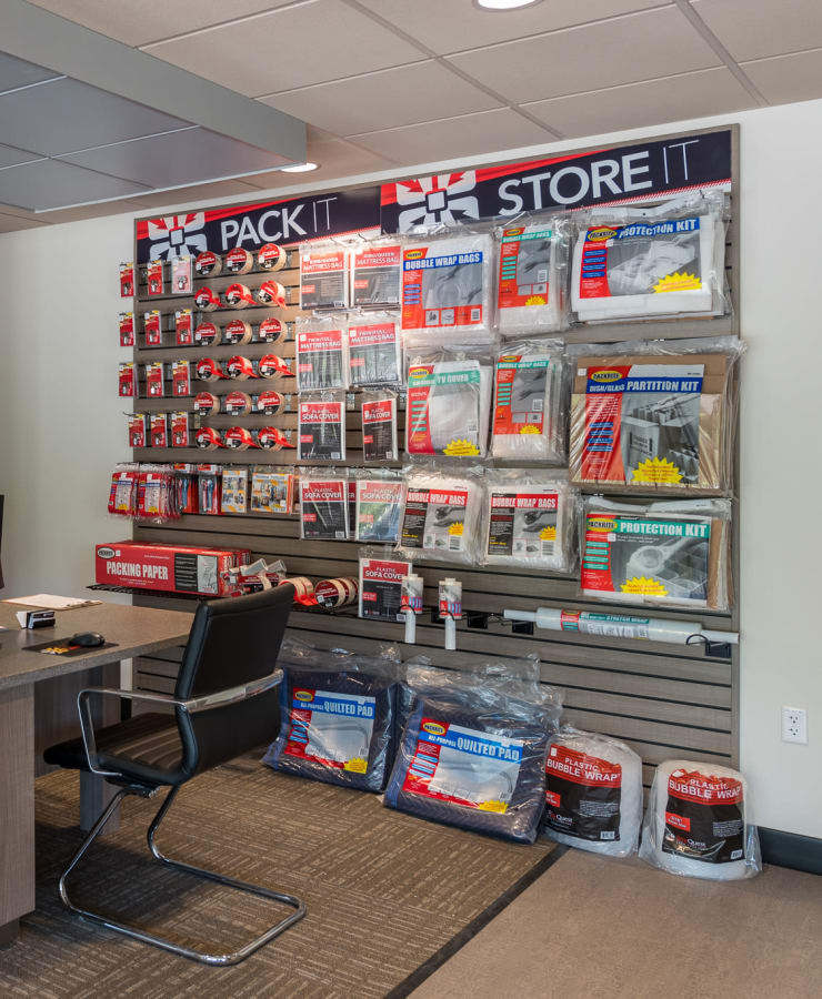 Packing supplies sold at StorQuest Self Storage in Federal Way, Washington