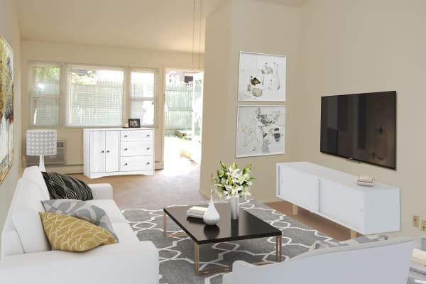 Living room at Ocean Terrace Apartment Homes