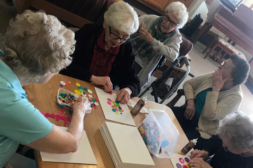 Resident arts and crafts activities at Prairie Hills in Independence, Iowa.