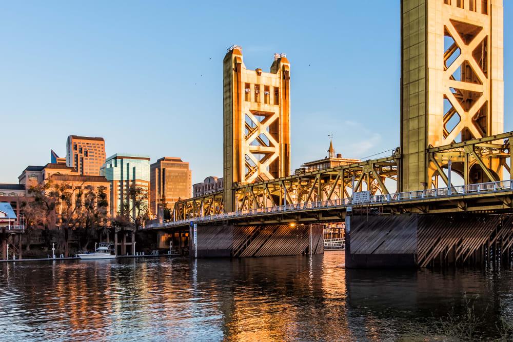 Bridge in Sacramento, California near Ray Stone Inc.