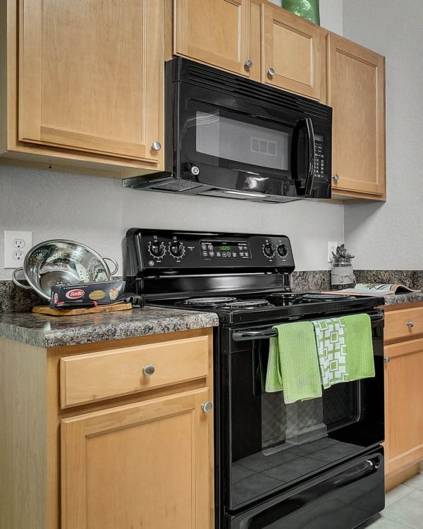Fully equipped kitchen at Palms at World Gateway in Orlando, Florida
