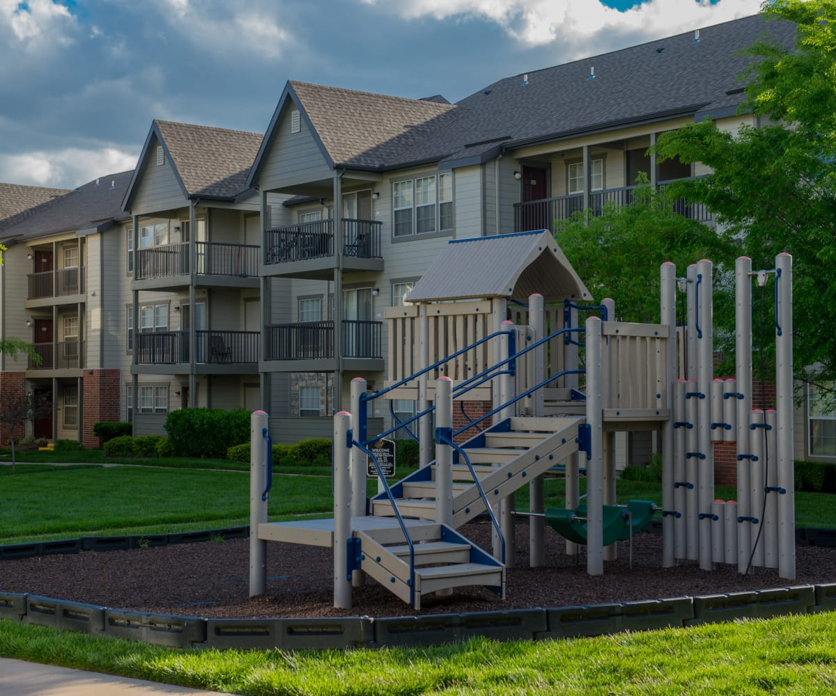 Outdoor playground at Villas of Waterford Apartments in Wichita, Kansas