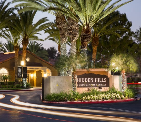 Hidden Hills, a sister community to Alicante Apartment Homes in Aliso Viejo, California