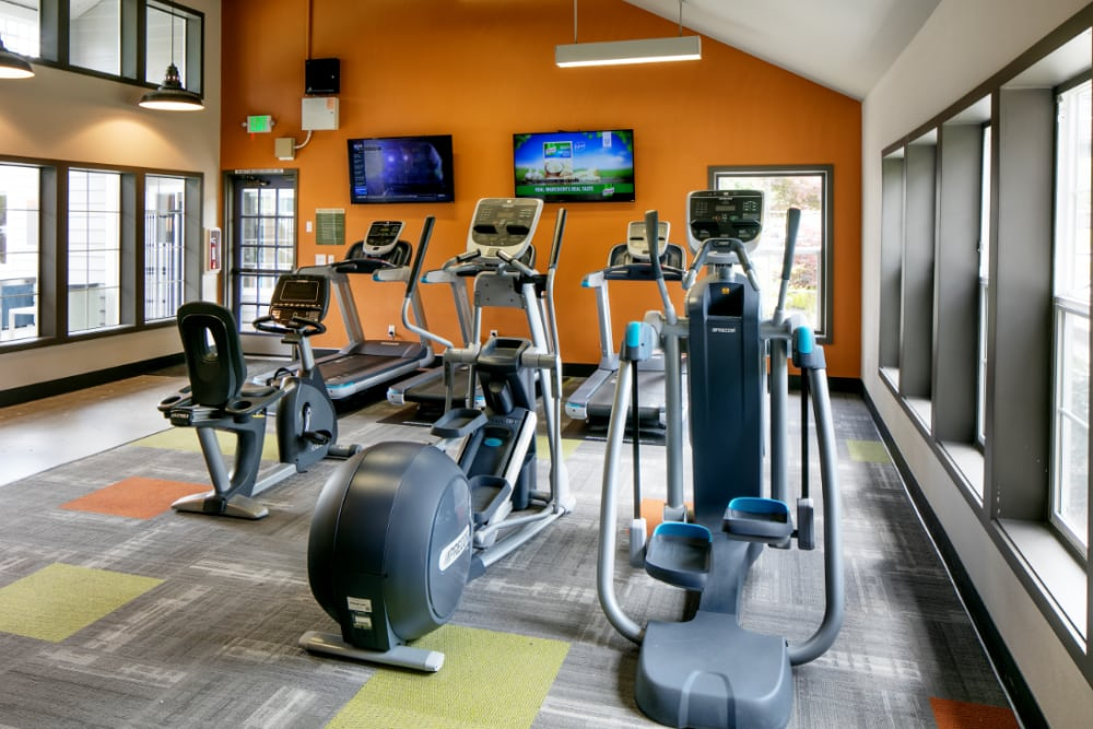 Onsite fitness center at The Carriages at Fairwood Downs in Renton, Washington