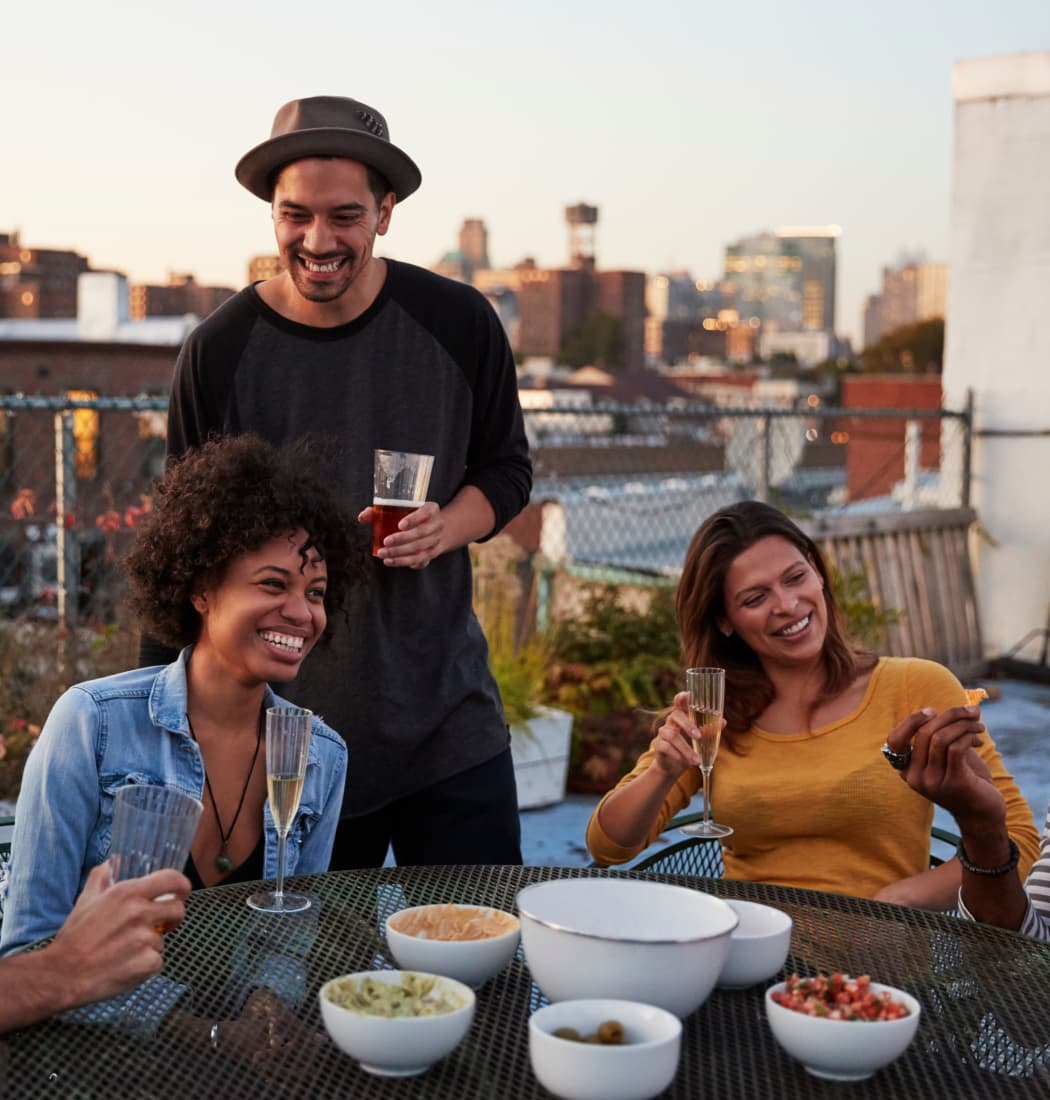 Enjoy a beautiful private balcony with your friends at Village of Greenbriar