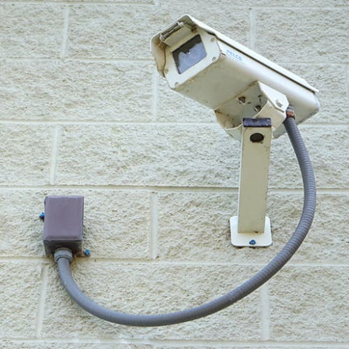 Security camera at Red Dot Storage in Monroe, Louisiana