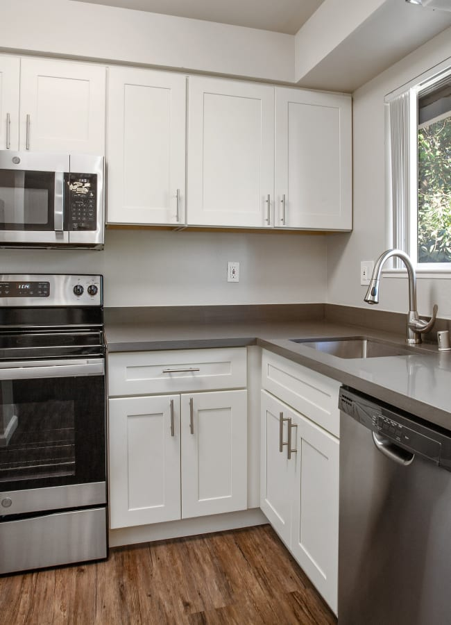 Well-equipped kitchen at Spring Lake Apartment Homes in Santa Rosa, California