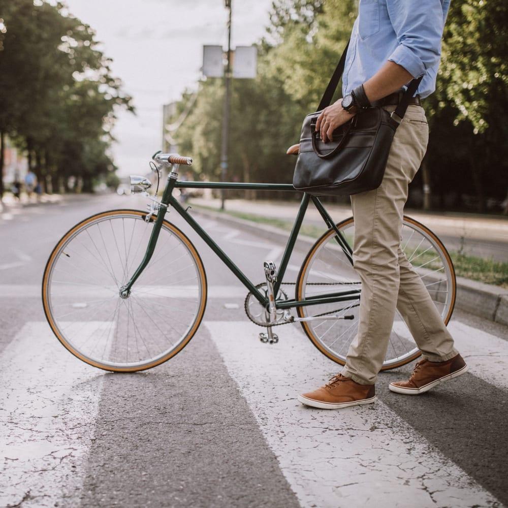 Biking in the city near Sugarloaf Grove in Lawrenceville, Georgia
