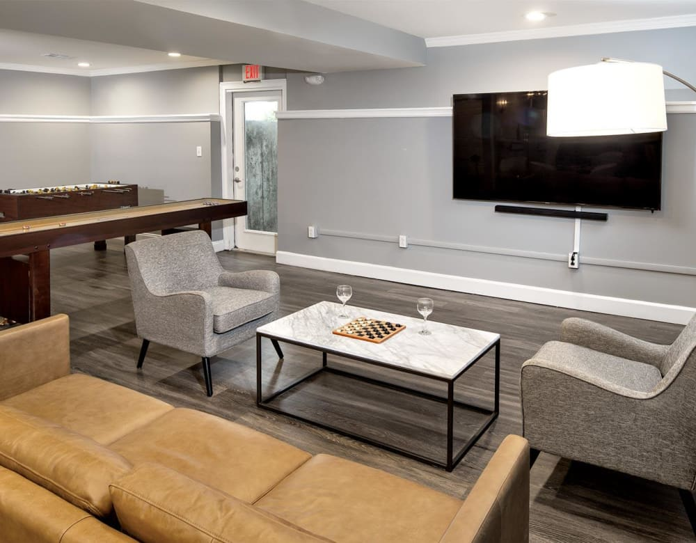 A lounge area in the community center at Summit at Mill Ridge in East Haven, Connecticut
