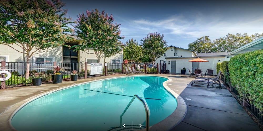 View a virtual tour of charming community at Pleasanton Place Apartment Homes in Pleasanton, California