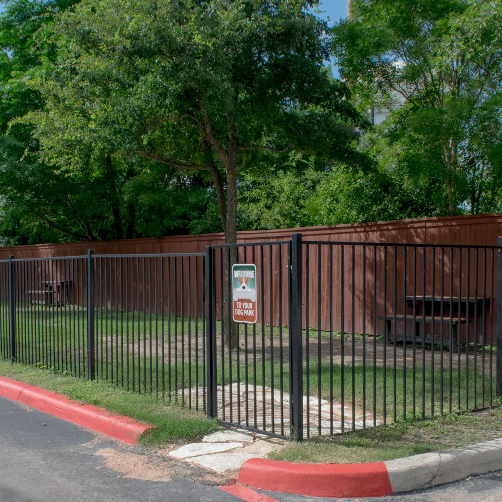 Bark park near Alon at Castle Hills in San Antonio, Texas
