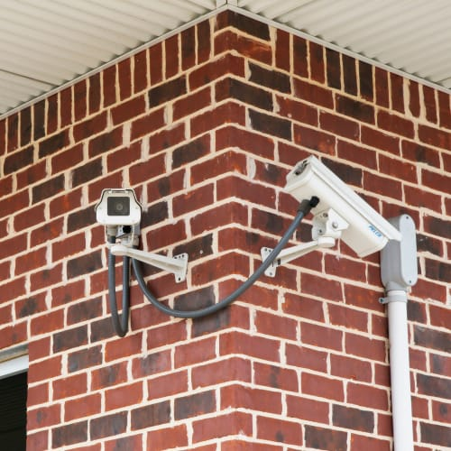 Security cameras at Red Dot Storage in Iowa City, Iowa