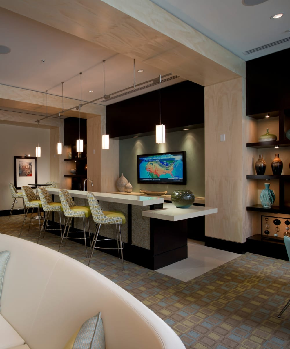 Clubhouse with plenty of seating for entertaining guests of Solaire 1150 Ripley in Silver Spring, Maryland