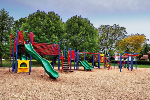 Family friendly playground near Lakeside Apartments in Lisle, Illinois