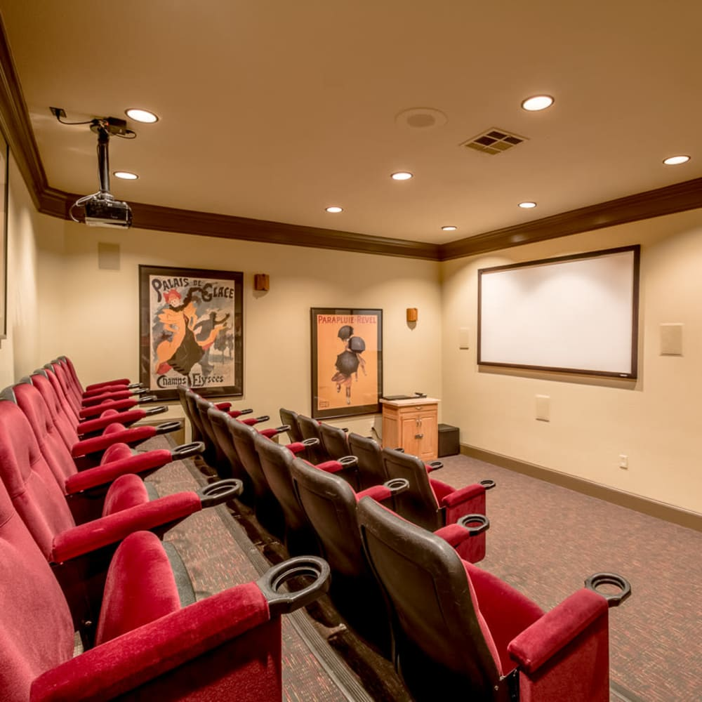 Community theater with ample seating at Alon at Castle Hills in San Antonio, Texas