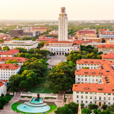 University of Texas in Austin, Texas near Regents West at 24th