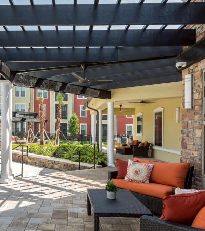 Beautiful porch at Sands Parc in Daytona Beach, Florida