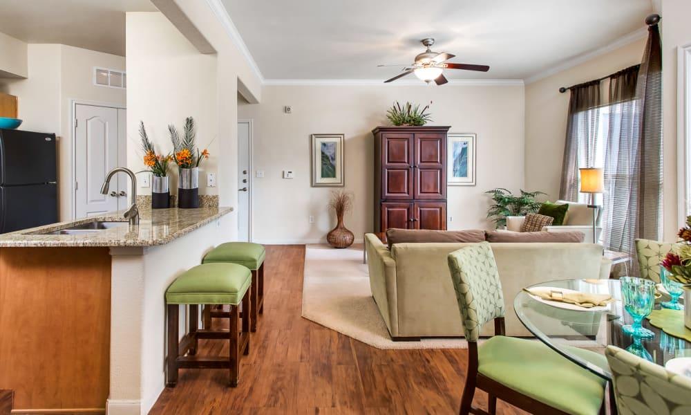 spaciously kitchen at Onion Creek Luxury Apartments in Austin, Texas