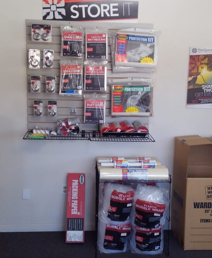 Packing supplies available at StorQuest Self Storage in Ripon, California
