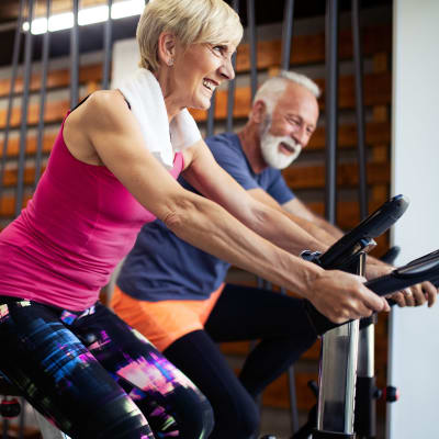 Fitness facility and other amenities at Parkside of Livonia in Livonia, Michigan