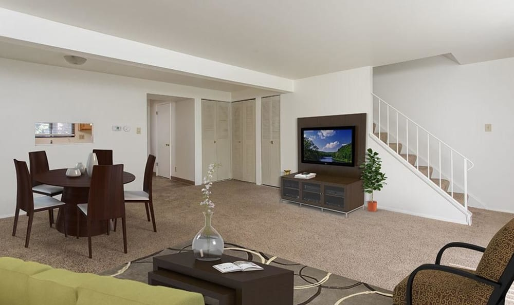 Ample living space at High Acres Apartments & Townhomes in Syracuse, New York