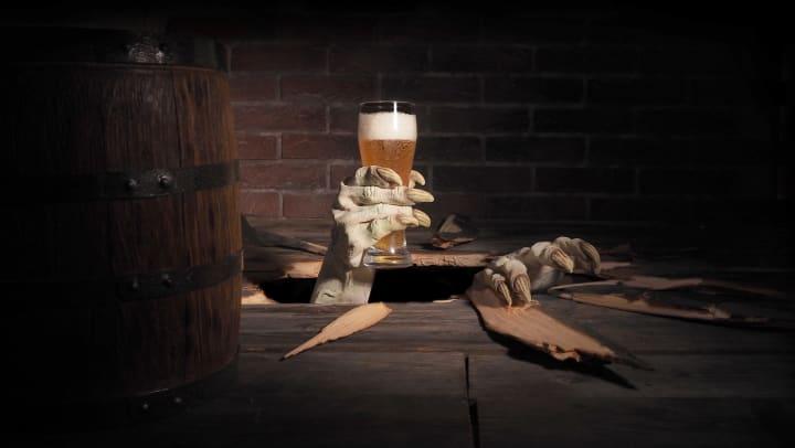 Creepy hand grabbing a beer near Cactus Forty-2