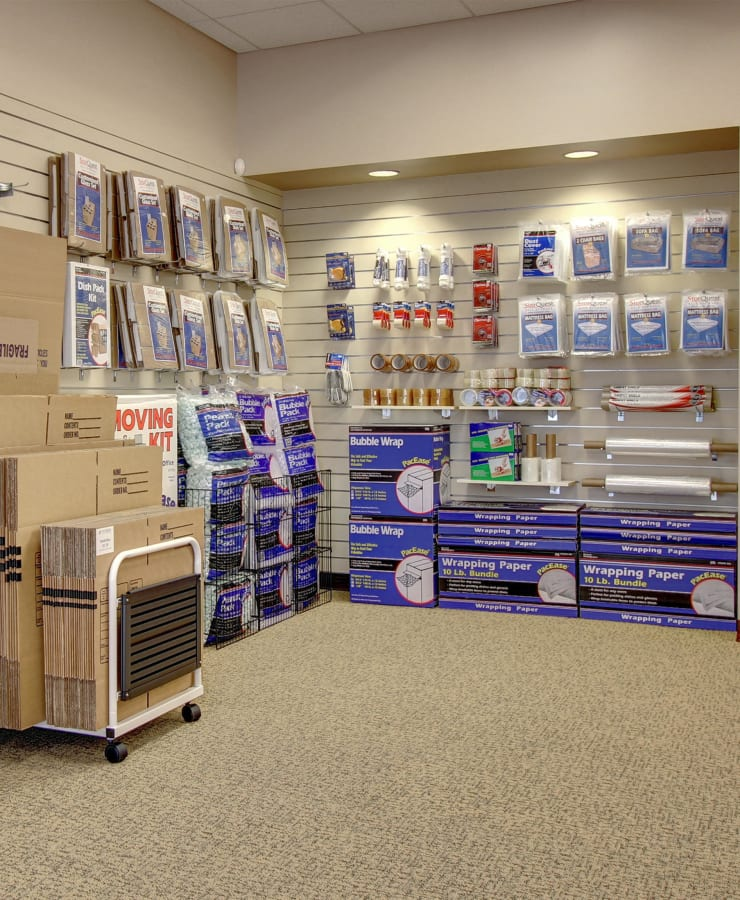 Packing supplies sold at StorQuest Self Storage in Denver, Colorado