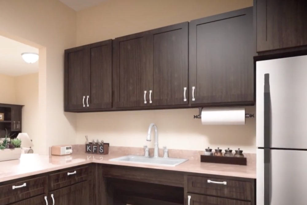 A rendering of an apartment kitchen at Harmony at Hope Mills in Fayetteville, North Carolina