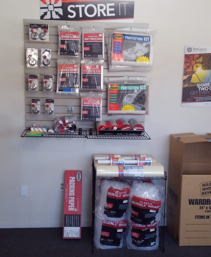 Packing supplies available at StorQuest Self Storage in Kea'au, Hawaii
