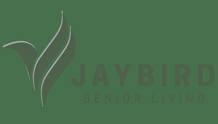 Jaybird Senior Living logo for RiverView Ridge in Rock Valley, Iowa