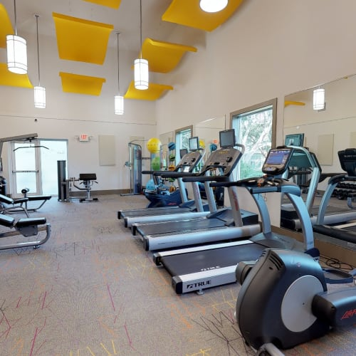 View virtual tour of the fitness center at Fairways at Feather Sound in Clearwater, Florida