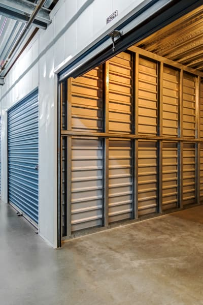 Looking into a storage unit at Golden Triangle Self Storage in San Diego, California
