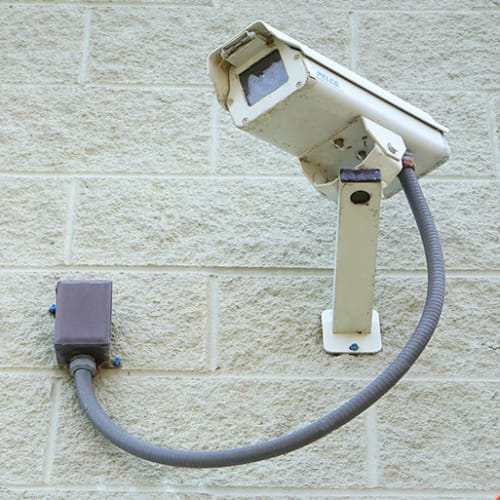 Security camera at Red Dot Storage in Searcy, Arkansas