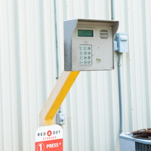 Secure entry keypad at Red Dot Storage in Richmond, Kentucky
