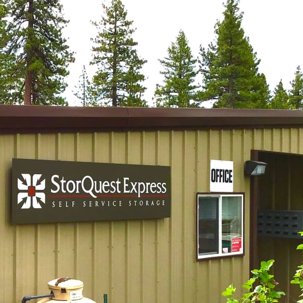 Exterior of the leasing office at StorQuest Express - Self Service Storage in Tahoe Vista, California