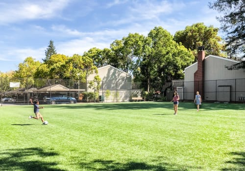 Outdoor amenities at Glenbrook Apartments in Cupertino, California